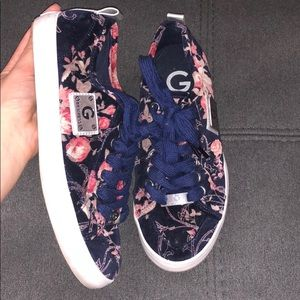 G by Guess Floral Velvet Sneakers
